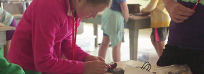 image of girl building something