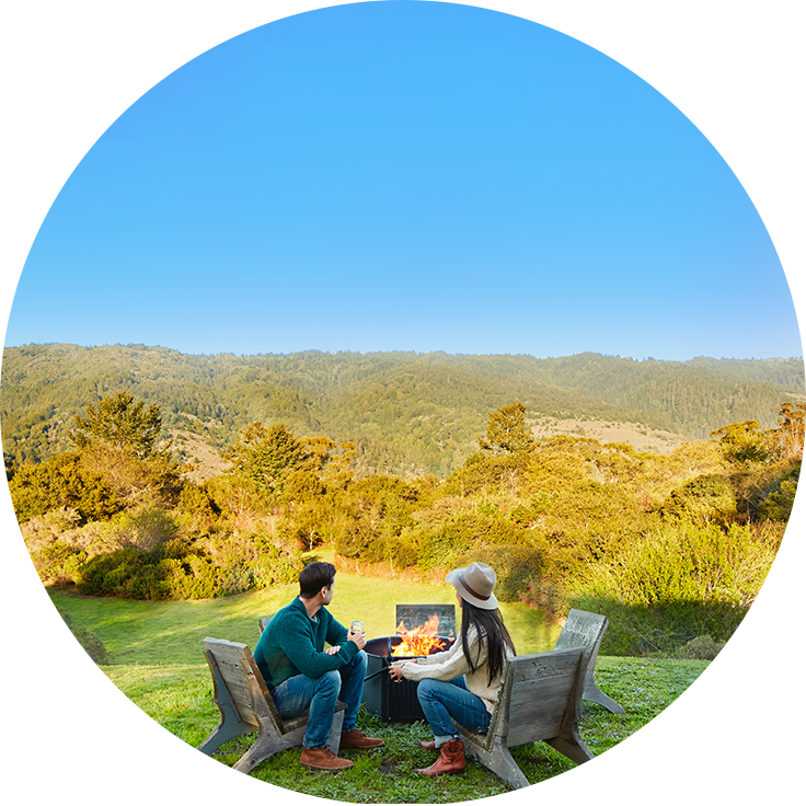 Image of couple enjoy beautiful scenary