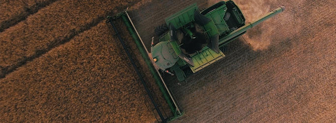 Tractor image from above