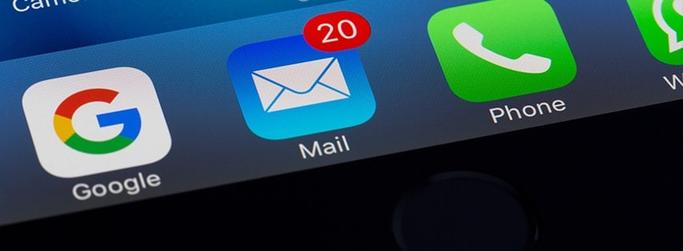 image of phone email inbox
